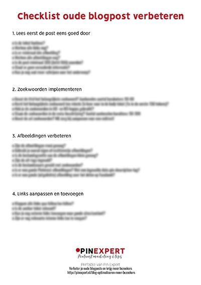 checklist oude blogpost verbeteren