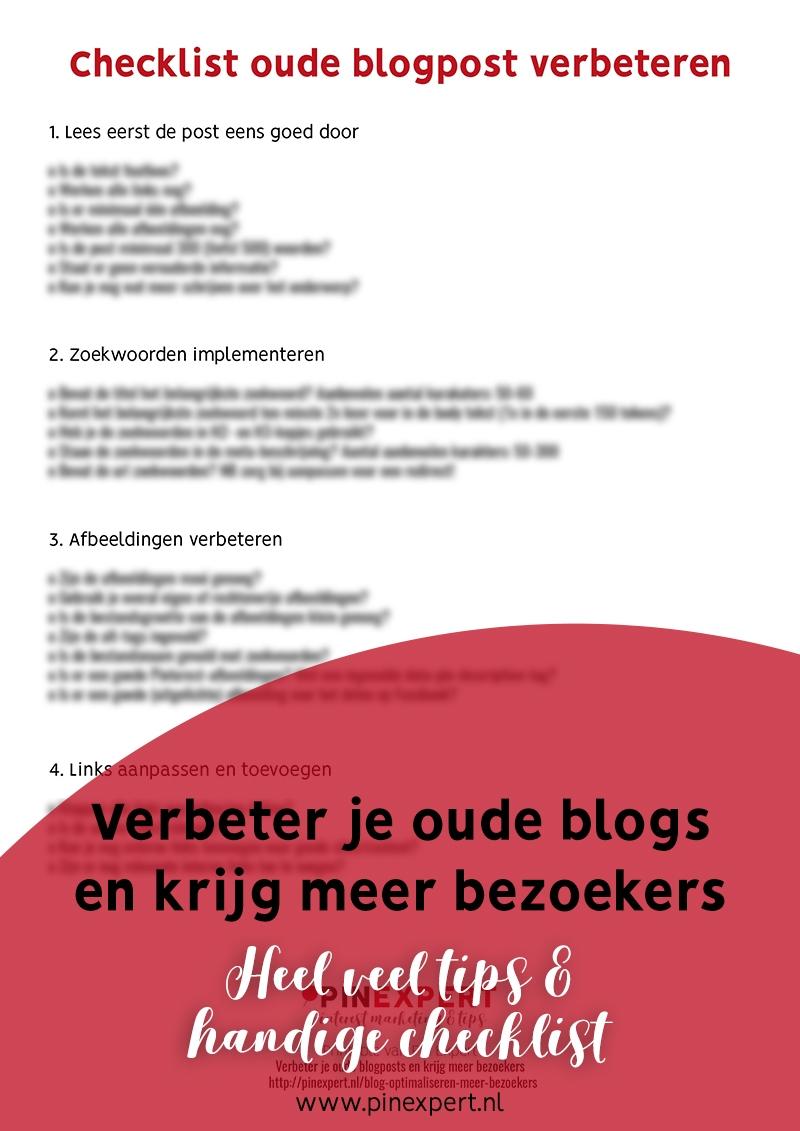 checklist oude blogpost verbeteren pinterest