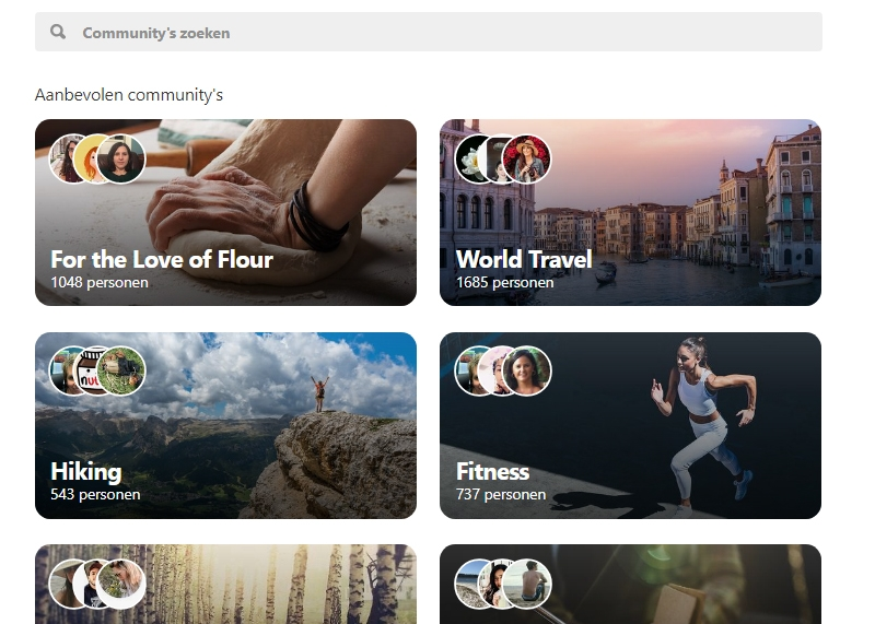 pinterest communities overzicht