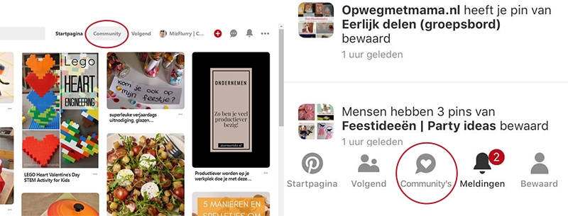 pinterest communitys app site